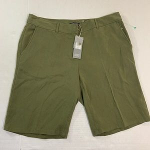 Eileen Fisher Olive Green Tencel Shorts NWT M